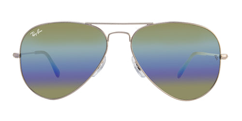 3d169c091bb Ray Ban Aviator Large Metal Gray   Green Lens Mirror Sunglasses