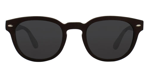 Oliver Peoples SHELDRAKE LEATHER LTD Black / Brown Lens Sunglasses