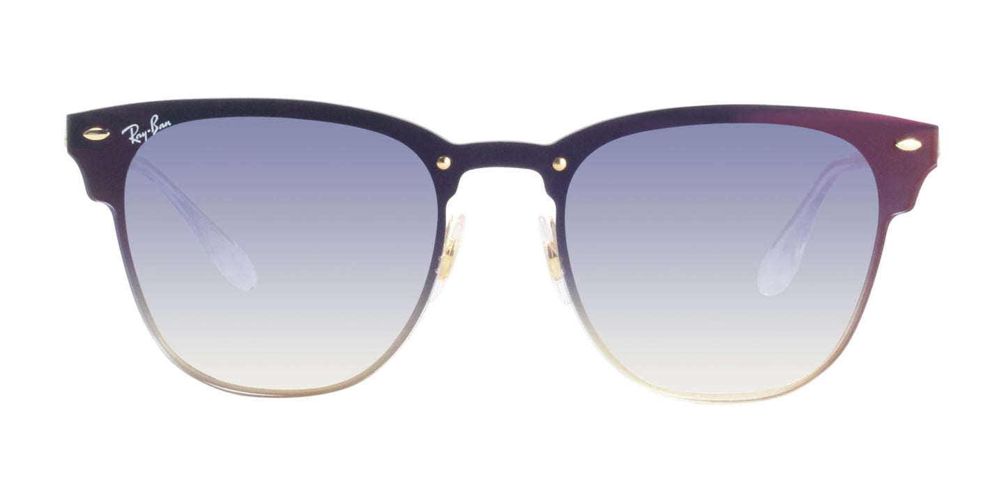 Ray Ban - Blaze Clubmaster Gold/Blue Gradient Rectangular Unisex Sunglasses - 47mm