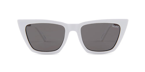 Quay Australia Don't @ Me White / Black Lens Sunglasses