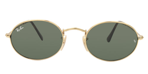 Ray Ban - RB3547N Gold/Green Oval Unisex Sunglasses - 51mm