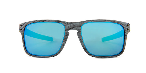 Oakley Holbrook Mix Frostwood / Blue Lens Mirror Sunglasses
