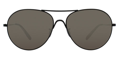 Oliver Peoples Rockmore Black / Gray Lens Mirror Sunglasses