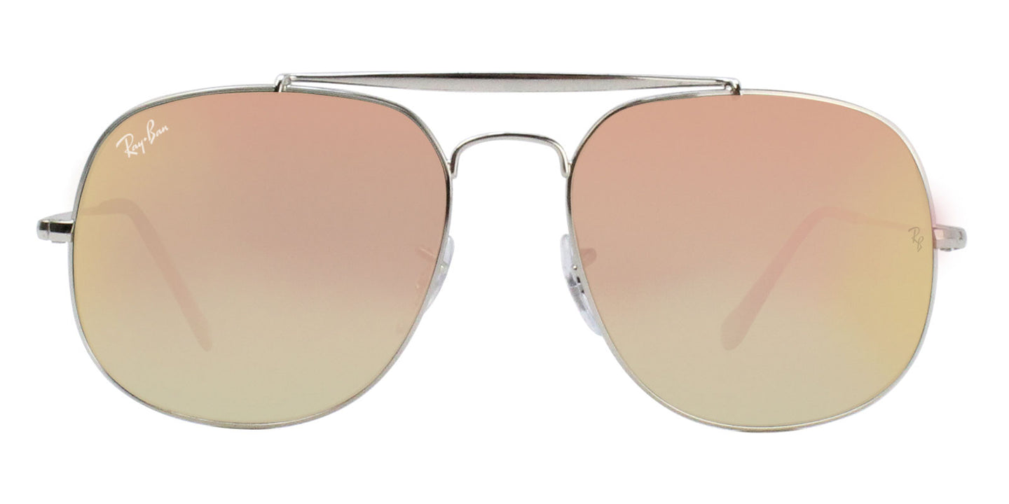Ray Ban - RB3561 Silver/Pink Mirror Oval Unisex Sunglasses - 57mm