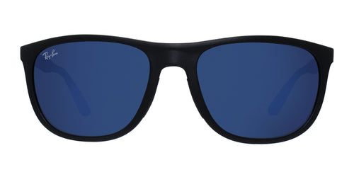 Ray Ban - RB4291 Black Rectangular Unisex Sunglasses - 58mm