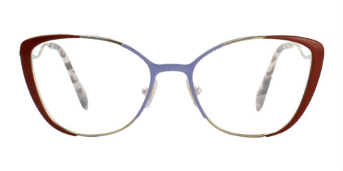 Miu Miu MU51QV Gold Blue / Clear Lens Eyeglasses