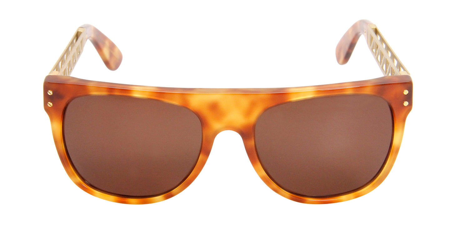 Retrosuperfuture Flat Top Tortoise / Brown Lens Sunglasses
