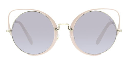 Miu Miu - MU51TS Pink Gold Oval Women Sunglasses - 54mm