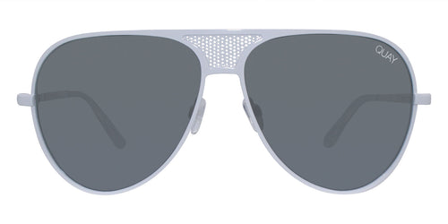 Quay Australia Iconic White / Gray Lens Mirror Sunglasses