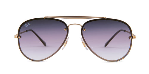 169ddb4eef2 Ray-Ban RB3584N Gold   Violet Lens Sunglasses