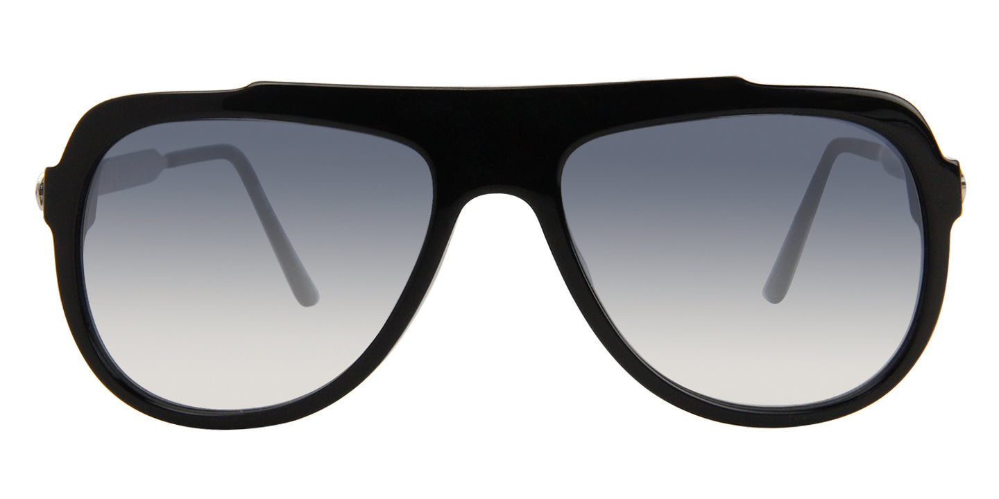 Thierry Lasry Majesty Black / Blue Lens Sunglasses