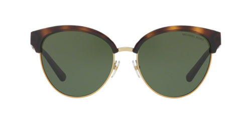 Michael Kors Amalfi Tortoise / Green Lens Solid Polarized Sunglasses