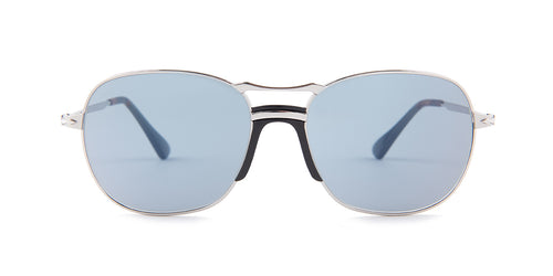 Persol - PO2449-S Silver Square Unisex Sunglasses - 56mm
