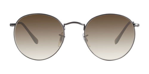 Ray Ban - RB3447N Gray Oval Unisex Sunglasses - 53mm