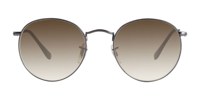 Ray Ban - Round Flat lenses Gray/Brown Gradient Oval Unisex Sunglasses - 53mm