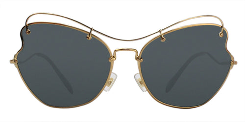 Miu Miu MU56RS Gold / Blue Lens Sunglasses
