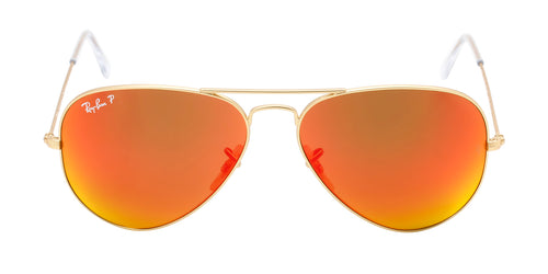 Ray Ban - Aviator Gold/Red Mirror Polarized Unisex Sunglasses - 58mm