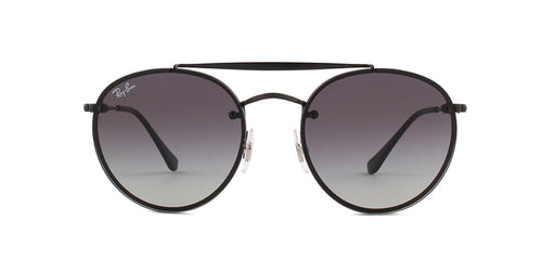Ray Ban - RB3614N Black Round Unisex Sunglasses - 54mm