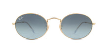 Ray Ban - RB3547 Gold Oval Unisex Sunglasses - 54mm