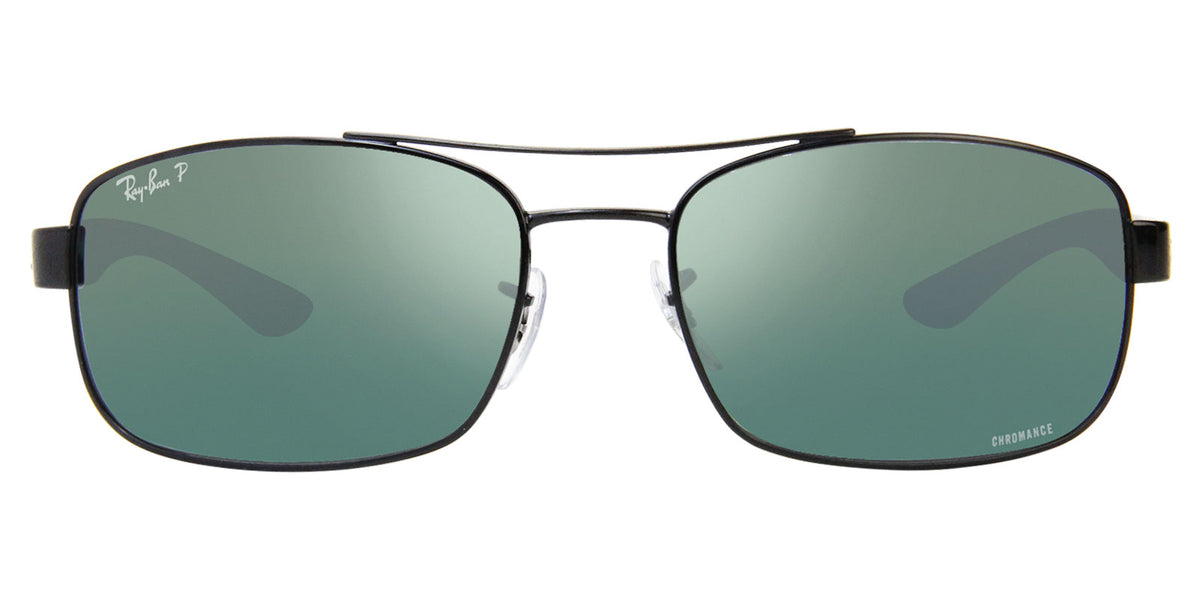 Ray Ban - RB8318-CH Black/Gray Mirror Polarized Rectangular Unisex Sunglasses - 62mm