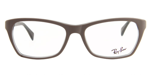 Ray Ban Rx - RX5298 Gray Rectangular Women Eyeglasses - 55mm