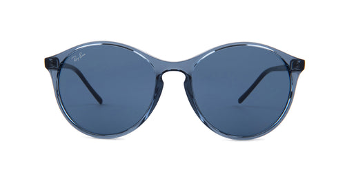 Ray Ban - RB4371 Blue Round Unisex Sunglasses - 55mm