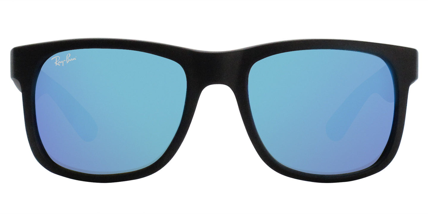 Ray Ban - RB4165 Black Rectangular Unisex Sunglasses - 51mm
