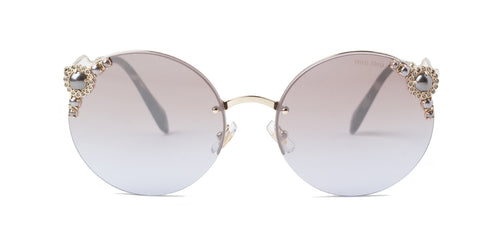 Miu Miu MU52TS Gold / Gray Lens Sunglasses