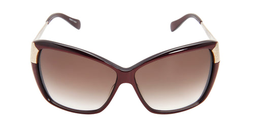 Oliver Peoples Skyla Red / Brown Lens Sunglasses