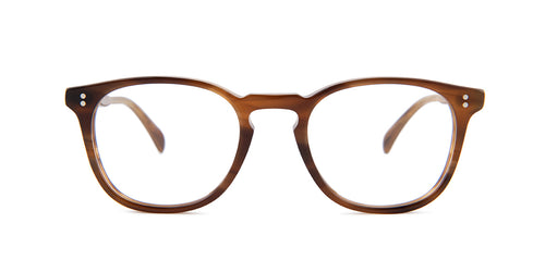 Oliver Peoples Finley Esq Brown / Clear Lens Eyeglasses