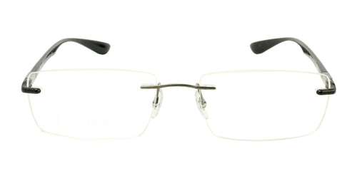 Ray Ban Rx - RX8724 Black Rimless Men Eyeglasses - 56mm