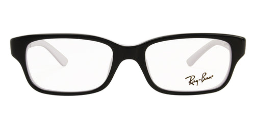Ray Ban Rx - RY1527 Black Rectangular Unisex Eyeglasses - 47mm