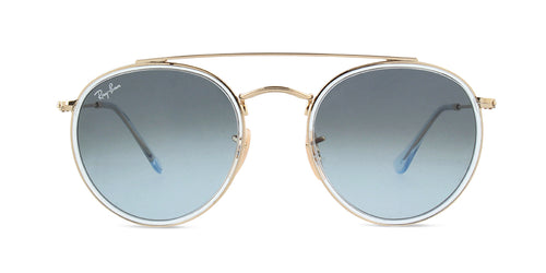 Ray Ban - RB3647N Gold Round Women Sunglasses - 51mm
