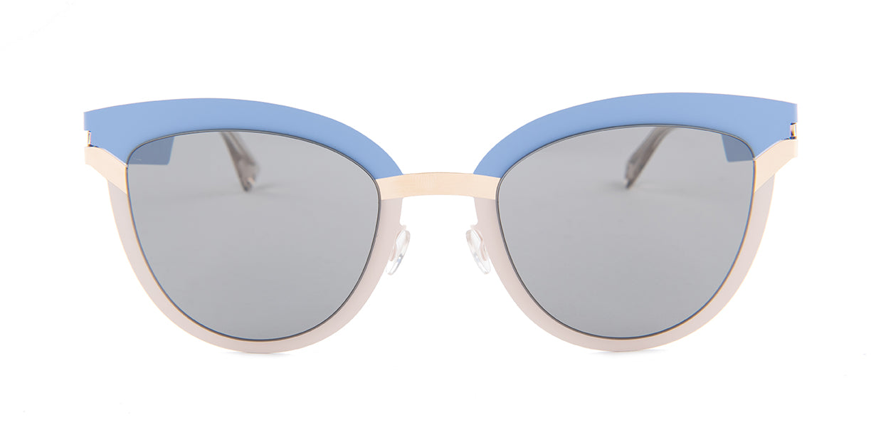 Mykitastudio - Studio 4.4 Blue/Gray Butterfly Women Sunglasses - 55mm