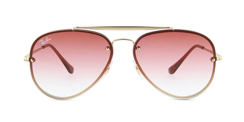 Ray Ban - RB3584N Gold Aviator Women Sunglasses - 58mm