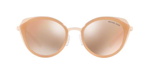 Michael Kors Charleston Rose Gold / Rose Gold Lens Solid Polarized Sunglasses