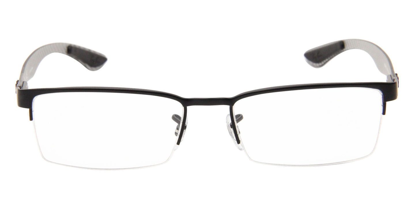 Ray Ban Rx - RX8412 Black Semi-Rimless Unisex Eyeglasses - 52mm
