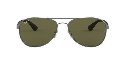 Ray Ban - RB3549 Gunmetal/Green Polarized Aviator Unisex Sunglasses - 58mm