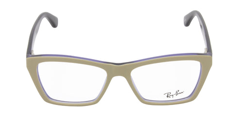 Ray Ban Rx - RX5316 Beige Rectangular Women Eyeglasses - 53mm