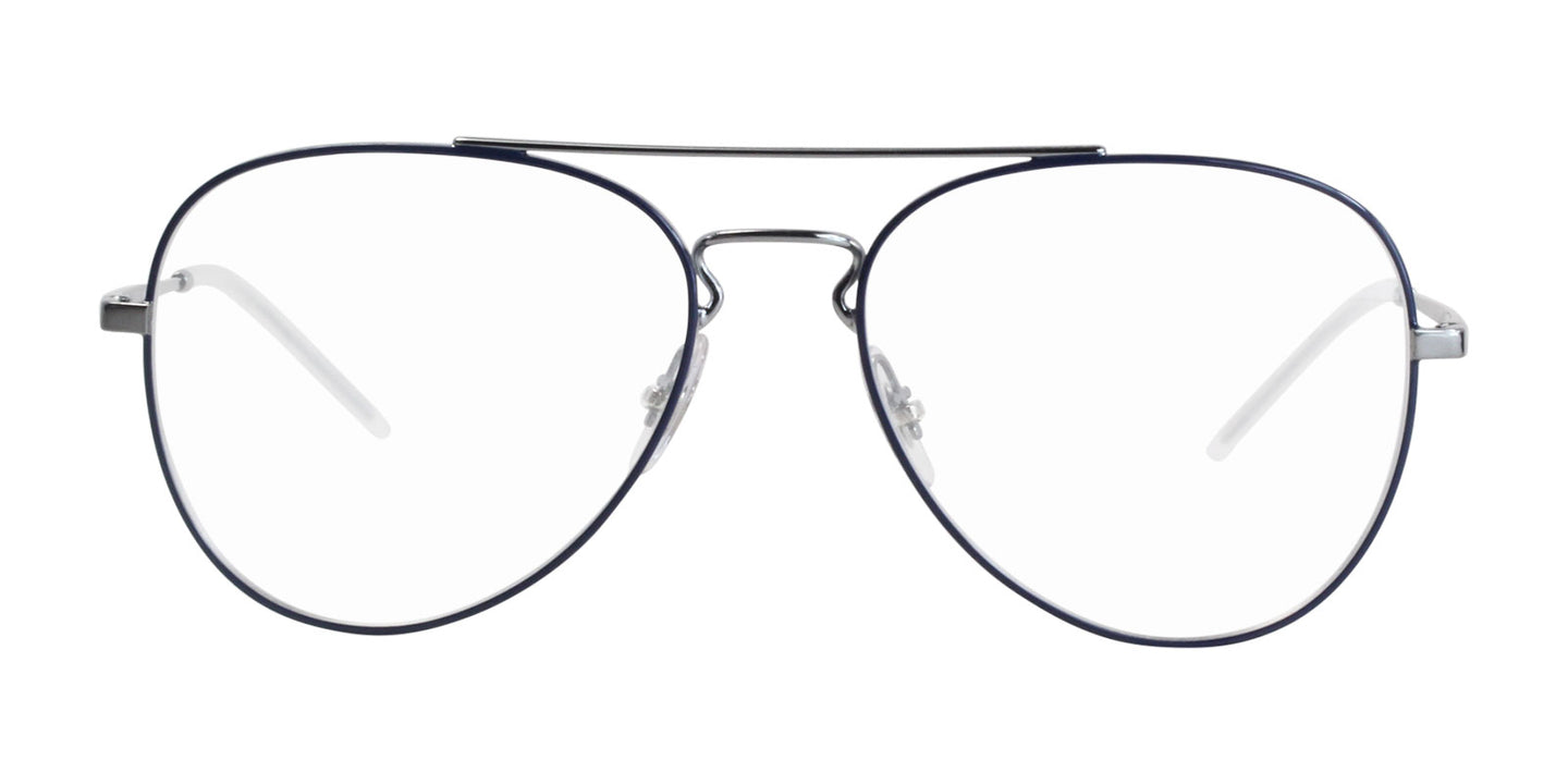 Ray Ban Rx - RX6413 Silver Blue Aviator Unisex Eyeglasses - 56mm