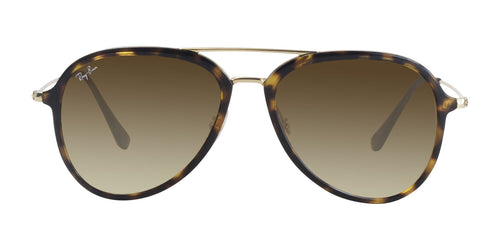 Ray Ban - RB4298 Tortoise Gold/Brown Gradient Aviator Unisex Sunglasses - 57mm