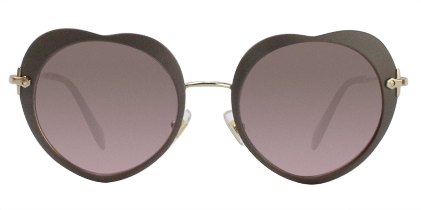 Miu Miu - MU54RS Gray/Brown Gradient Oval Women Sunglasses - 52mm