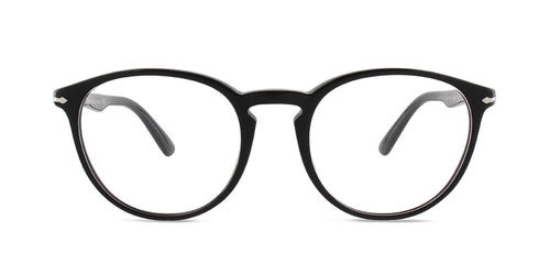 Persol - PO3212-V Black Square Unisex Eyeglasses - 52mm