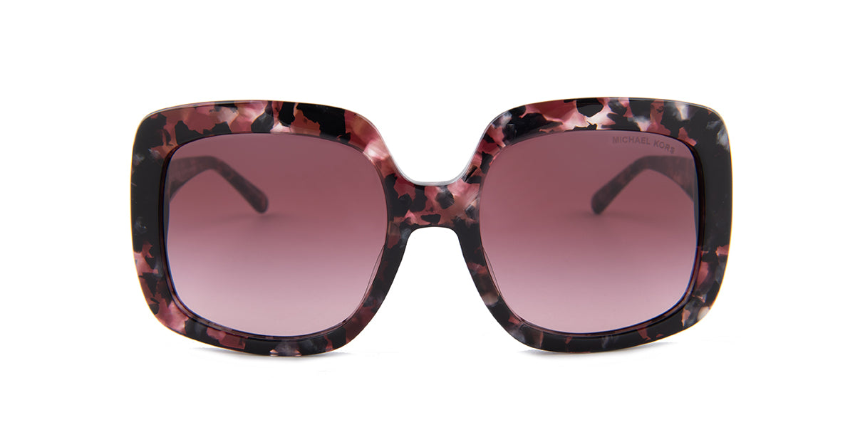Michael Kors - MK2036F Marble Burgundy Rectangular Women Sunglasses - 55mm