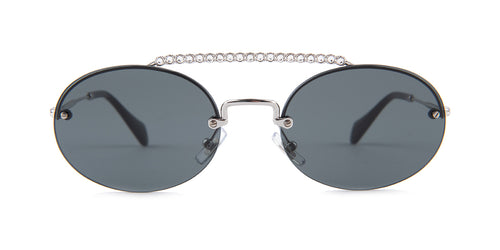 Miu Miu - MU60TS Silver/Gray Rimless Women Sunglasses - 54mm