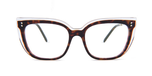Valentino - VA3021 Havana Butterfly Women Eyeglasses - 53mm