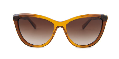 Michael Kors Divya Brown / Brown Lens Sunglasses