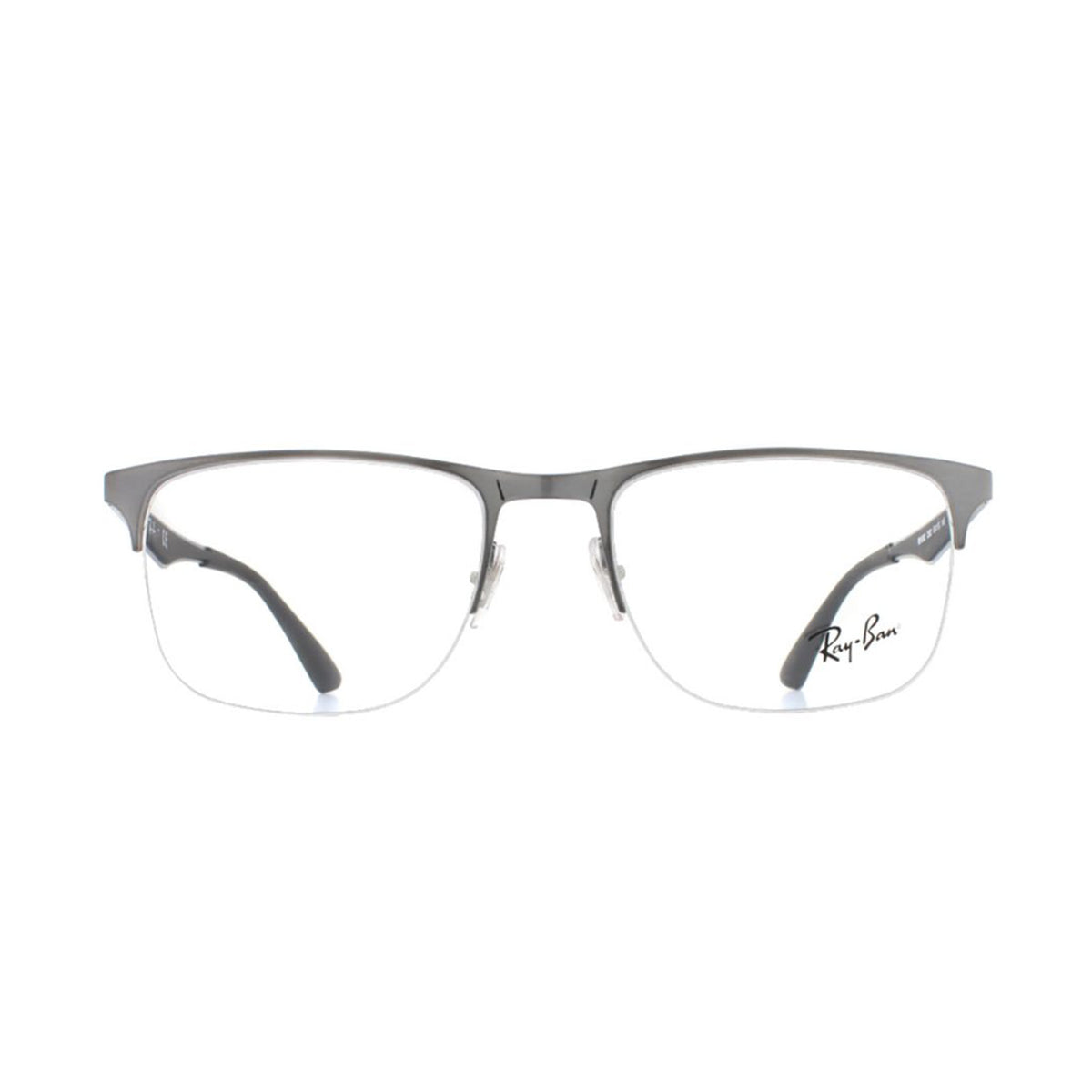 Ray Ban Rx - RX6362 Silver Semi-Rimless Unisex Eyeglasses - 53mm