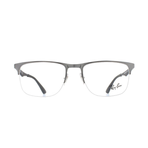 Ray Ban Rx - RB6362 Silver Semi-Rimless Unisex Eyeglasses - 53mm