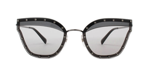Valentino - VA2028 Gunmetal Butterfly Women Sunglasses - 59mm
